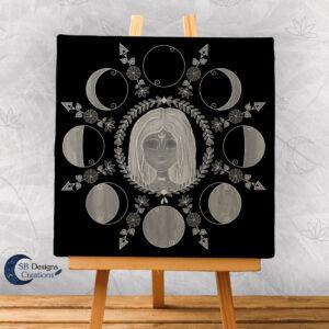 Cailleach Maangodin Canvas Art Spiritueel