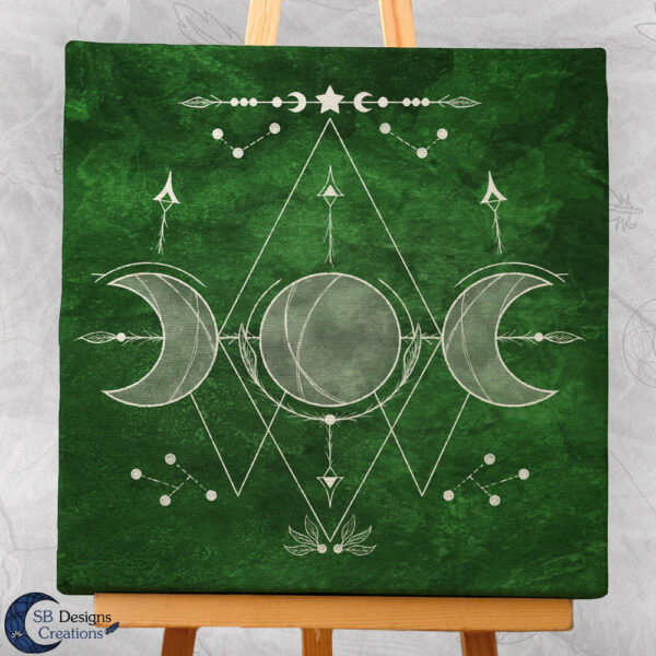 Drievoudige Maan Canvas Art Heksenhuisje-2