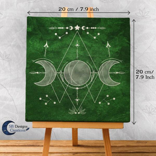 Drievoudige Maan Canvas Art Heksenhuisje-3