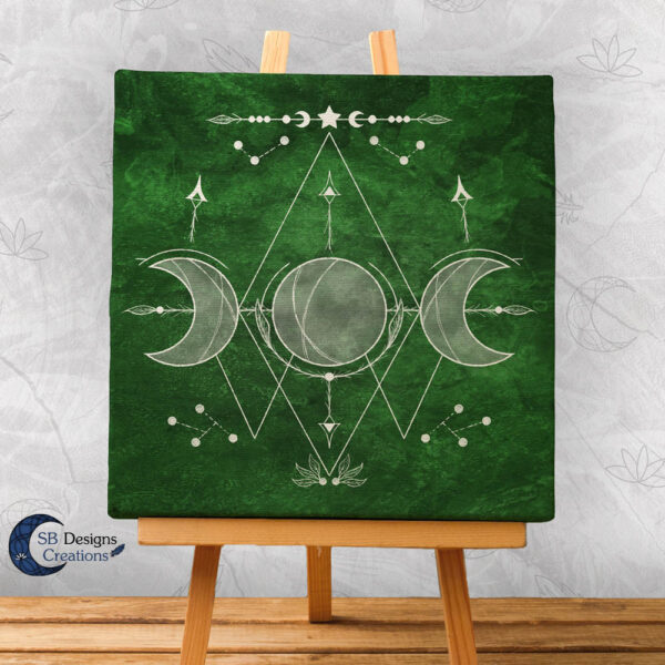 Drievoudige Maan Canvas Art Heksenhuisje