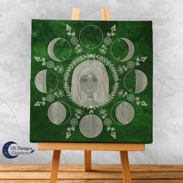 Maancyclus Spirituele Art Godinnen