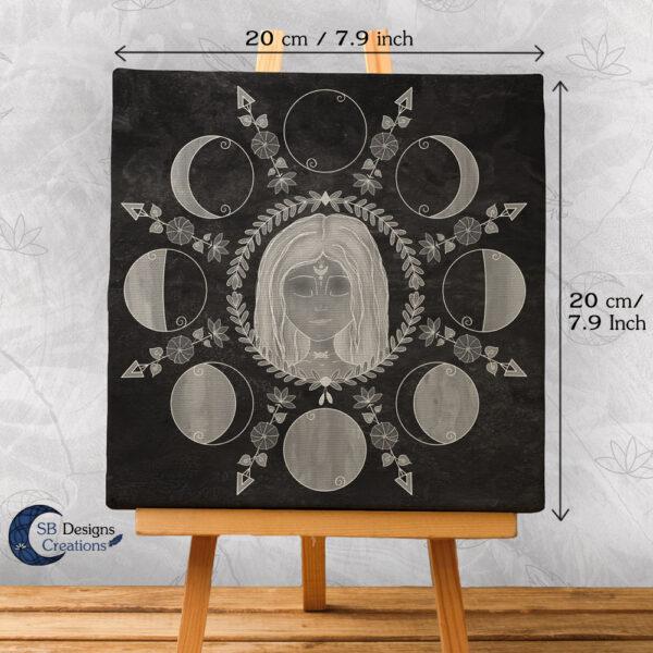 Moedergodin Maangodin illustratie Maanfasen-2