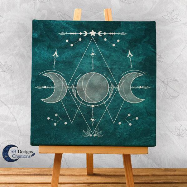 Moon Illustration Art Witch Symbols-Moon Witch