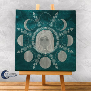 Moon Phases Canvas Art Home Docoration