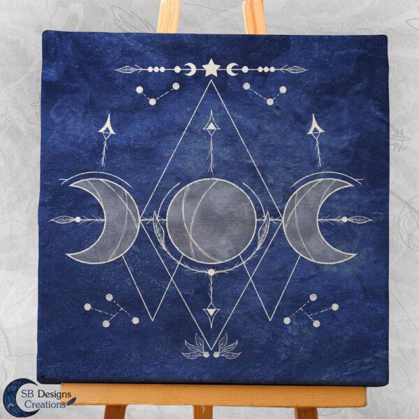 Triple Moon Art-Blauw-Maanheks-2