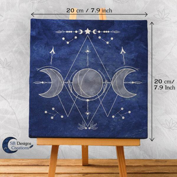 Triple Moon Art-Blauw-Maanheks-3