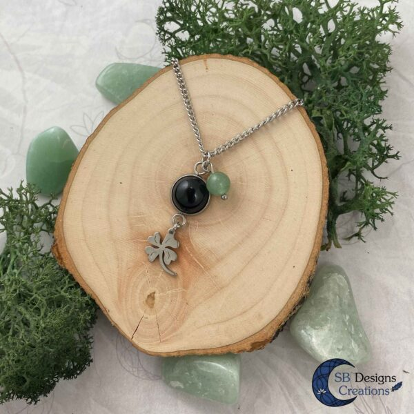 A little bit of Luck - aventurine and onyx-2