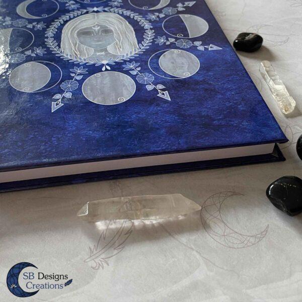 Maangodin Journal Maandagboek Maanfasen Blauw-6