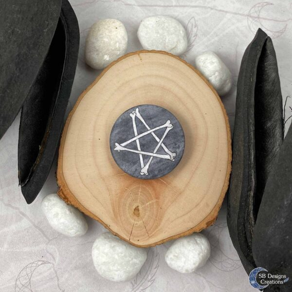 Bones Pentagram Accessories Button pin