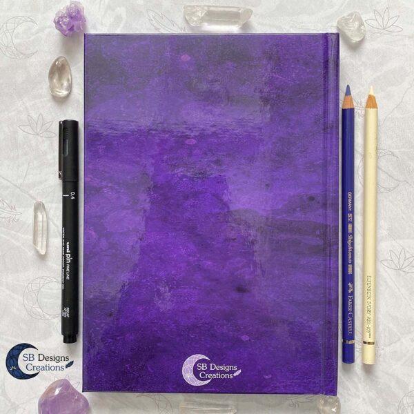 Drievoudige Maan Hardcover Notitieboek A5 Art Journal Spellbook Heks BOS Magisch Dagboek-2