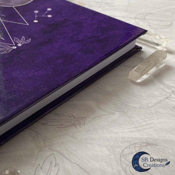 Drievoudige Maan Hardcover Notitieboek A5 Art Journal Spellbook Heks BOS Magisch Dagboek-5