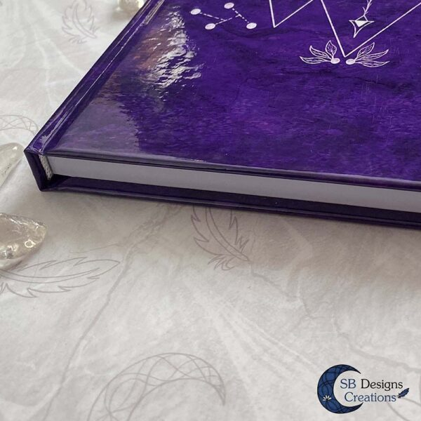 Drievoudige Maan Hardcover Notitieboek A5 Art Journal Spellbook Heks BOS Magisch Dagboek-6