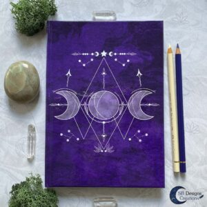 Drievoudige Maan Symbool - Book of Shadows Paars