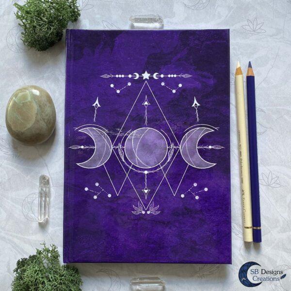 Drievoudige Maan Symbool - Book of Shadows Paars
