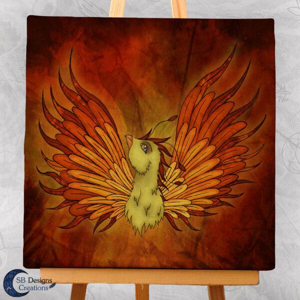 Fenix Art Fire Bird Magical Creatures