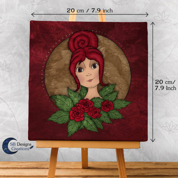 Flora Flower Goddess- Bloem Godin Flora - Canvas Art-2