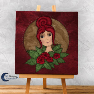 Flora Flower Goddess- Bloem Godin Flora - Canvas Art