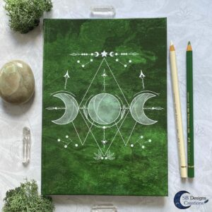 Groene Heks Maan Journal Notebook Triple Moon