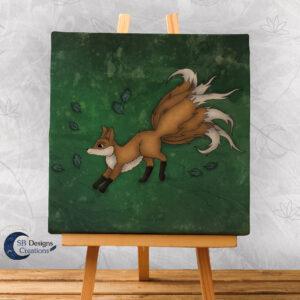 Kitsune Canvas Art-Magische Wezens