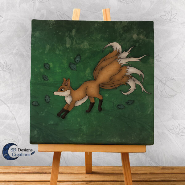 Kitsune Canvas Art Mythological Creature