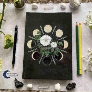 Maanfasen-Maambloemen Journal Nacht