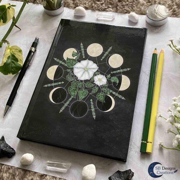 Moon Flowers Moon Cycle Notebook