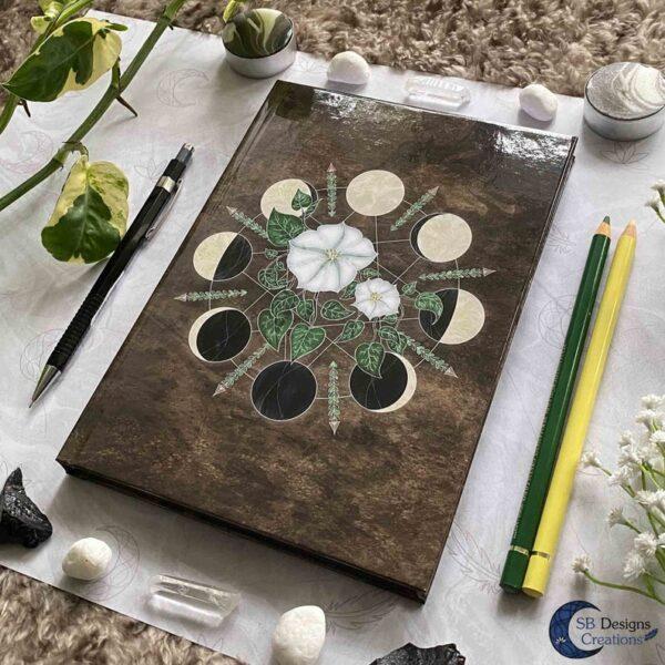 Pagan Boekje maanfases bloemen natuur journal