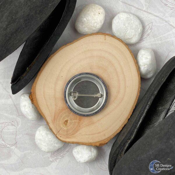 Pentagram Button Pin Original Witch Art