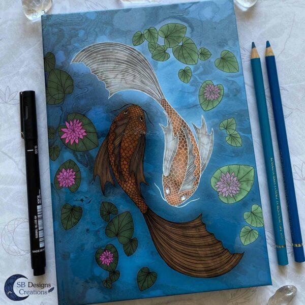 Pisces Zodiac blank hardcover notebook A5