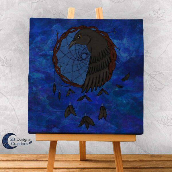 Raven Dream Catcher Home Decoration