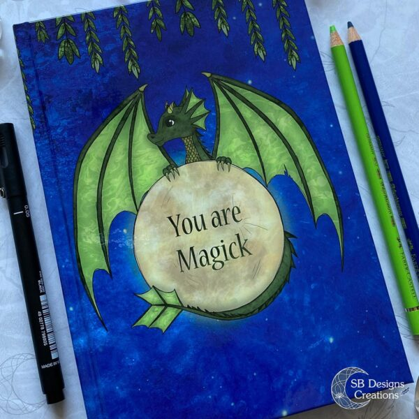 You are Magick-Notitieboek Draak volle maan-2