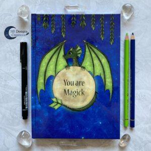 You are Magick-Notitieboek Draak volle maan