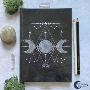 Zwart-Notitieboek-Maan-Maankind-Journal Maanmagie