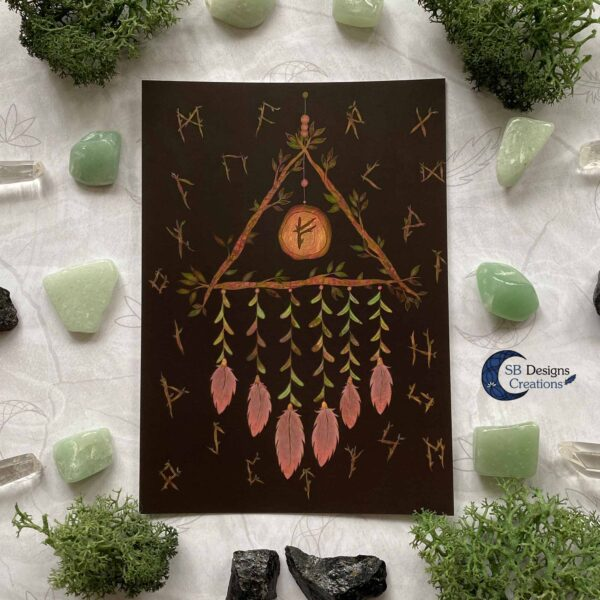 Dream Catcher Pagan Art Witch Home
