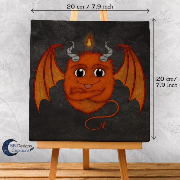 Fire Monster Cute Orange Little Monster