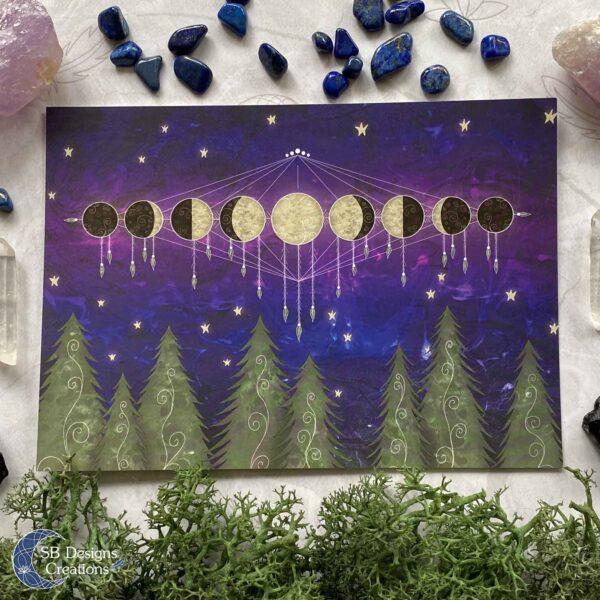 Maanfasen Moonphases Art