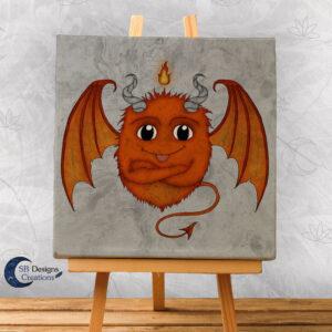 Monstertje Oranje Character Design Cute