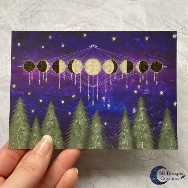 Moonphases Postcard SBDesignsCreations