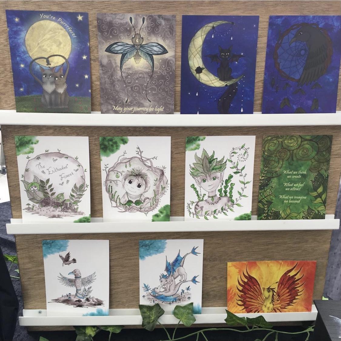 Ansichtkaarten A6 Prints Fantasy Natuur Magie