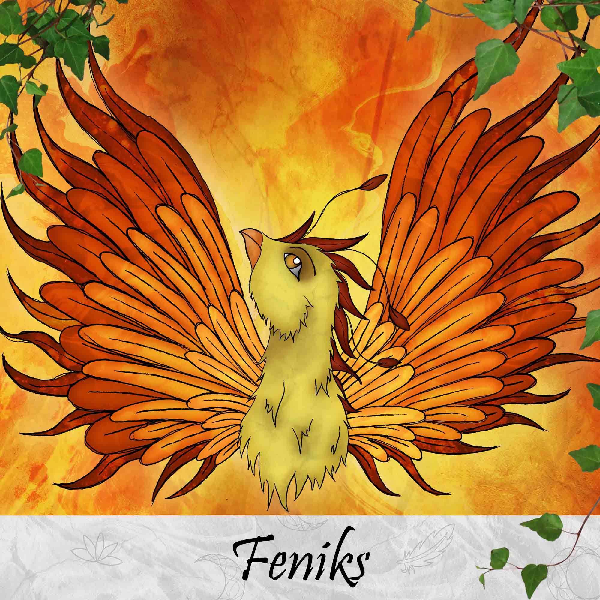 Feniks-Phoenix-Mythologische Wezens-Thema-Producten-SBDesignsCreations