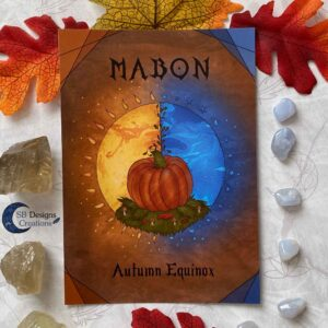 Mabon Artprint Ansichtkaart Postcard Heks Jaarvieringen Pagan-1