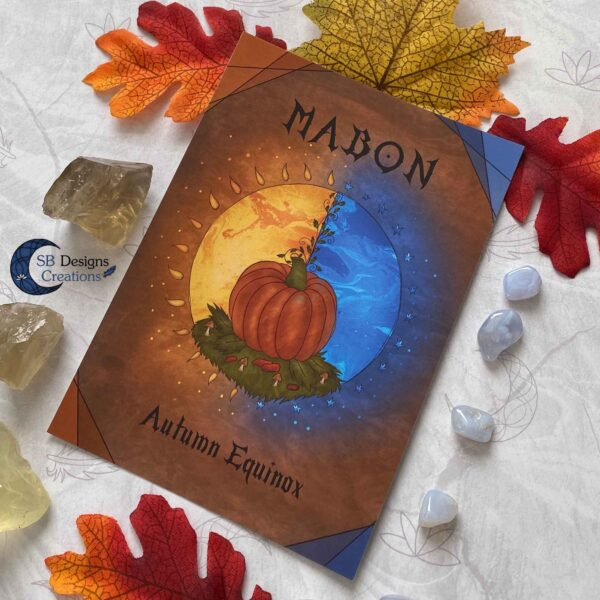 Mabon Artprint Ansichtkaart Postcard Heks Jaarvieringen Pagan-2