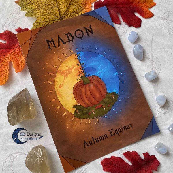 Mabon Artprint Ansichtkaart Postcard Heks Jaarvieringen Pagan-3