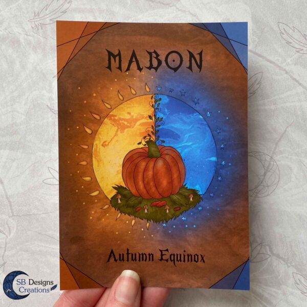 Mabon Artprint Ansichtkaart Postcard Heks Jaarvieringen Pagan-4