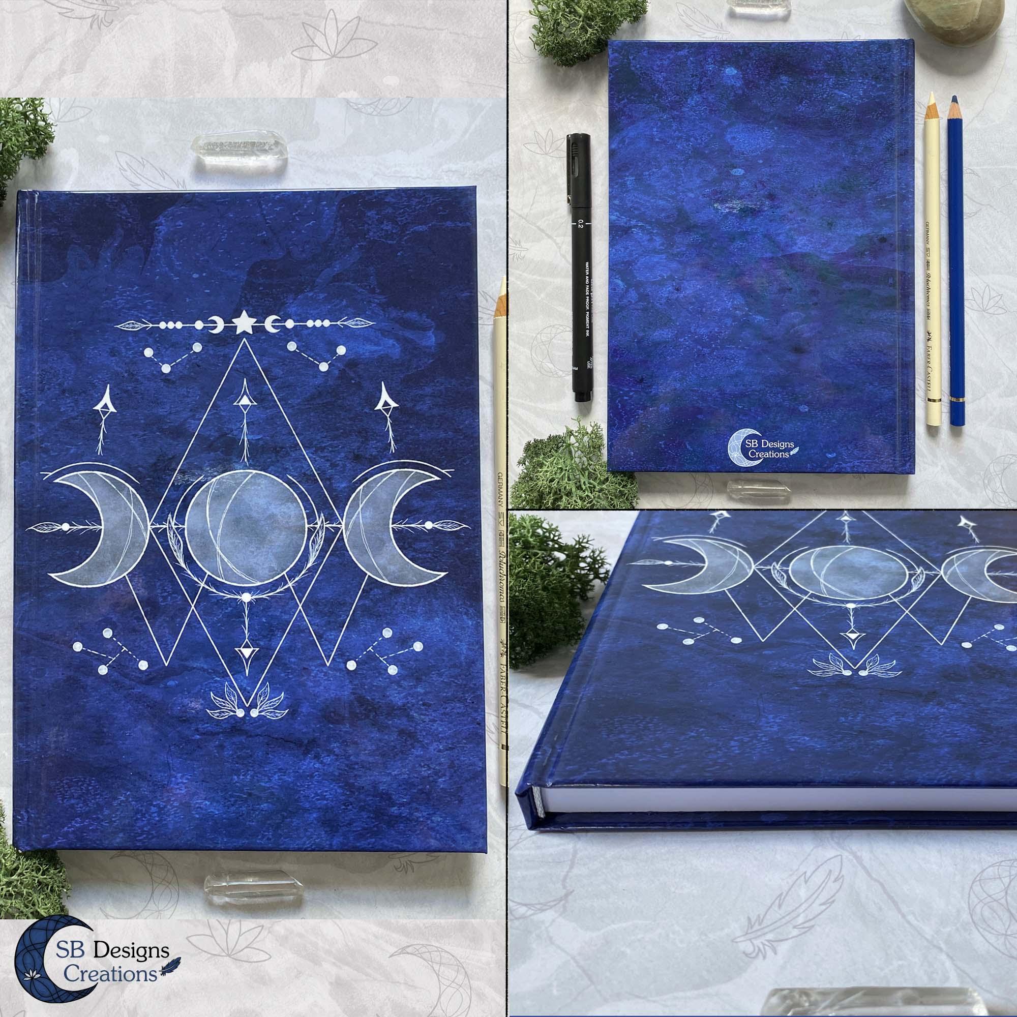 Notitieboek-Journal-Triple-Moon-Creaties-illustratief-Witchy-Vibes