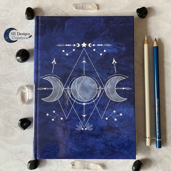 Triple Moon Blauw-1-Hardcover Journal Notitieboek