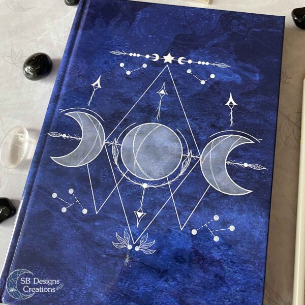 Triple Moon Blauw-3Hardcover Journal Notitieboek