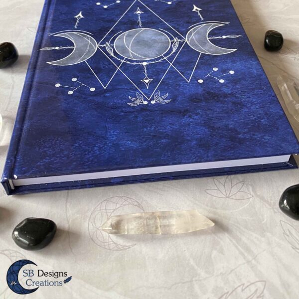 Triple Moon Blauw-4Hardcover Journal Notitieboek