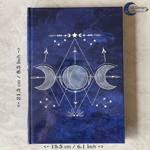 Triple Moon Blauw-7Hardcover Journal Notitieboek