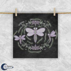 Dragonfly Spirit Animal - Libelle Krachtdier Spiritualiteit - Betekenis van Dieren - Dieren Artprint